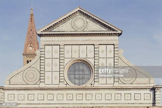 Church of Santa Maria Novella by Leon Battista Alberti Jacopo Talenti 13th 15th Century Italy Tuscany Florence Church of Santa Maria Novella Detail...
