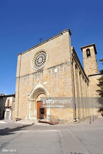 Church Of Sant'agostino Amatrice Lazio Italy