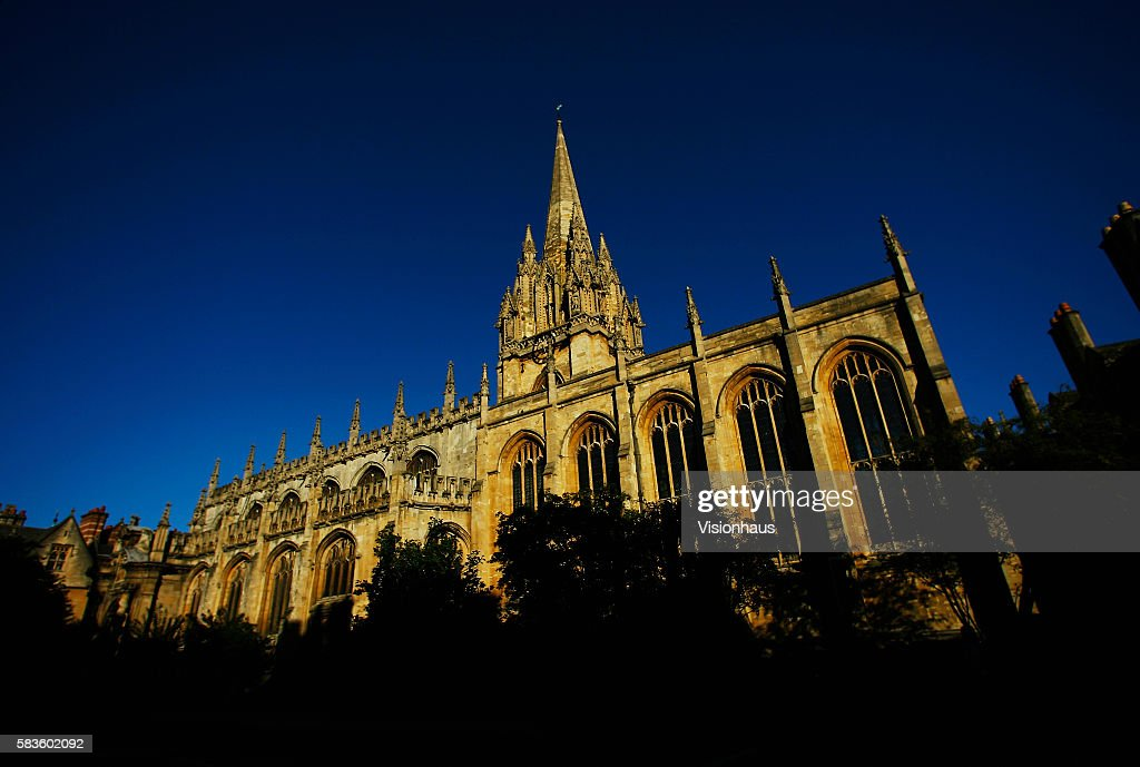 Church of St Mary the Virgin Oxford photographed from High Street Affectionately named 'the city of dreaming spires' by nineteenth century English...
