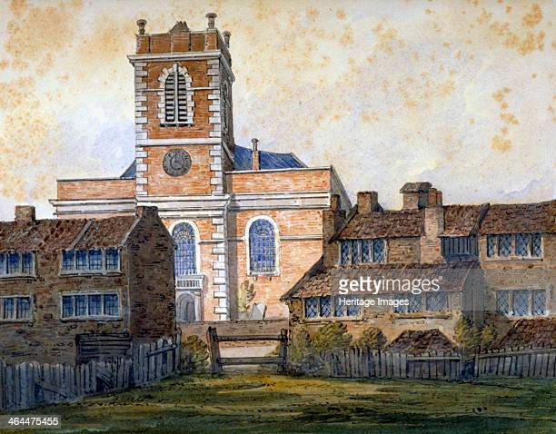 Church of St Matthew Bethnal Green London c1815