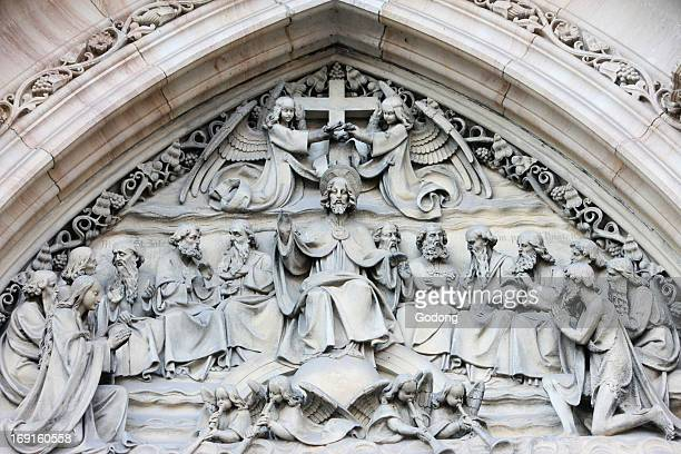 Church of St Peter and St Paul tympanum sculpture