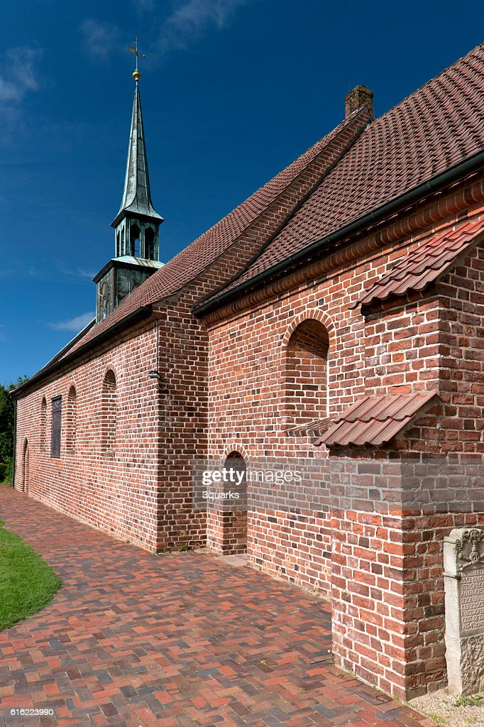 Church of St. Peter-Ording in Germany : Bildbanksbilder