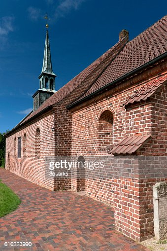 Church of St. Peter-Ording in Germany : Stock Photo