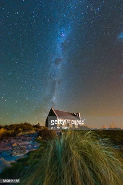 Church of The Good Shepherd and the Milky Way, Lake Tekapo, New Zealand