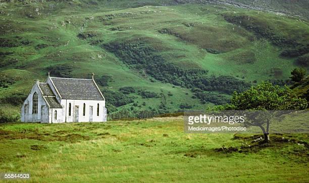 Church on a landscape, Lochailort, Scotland
