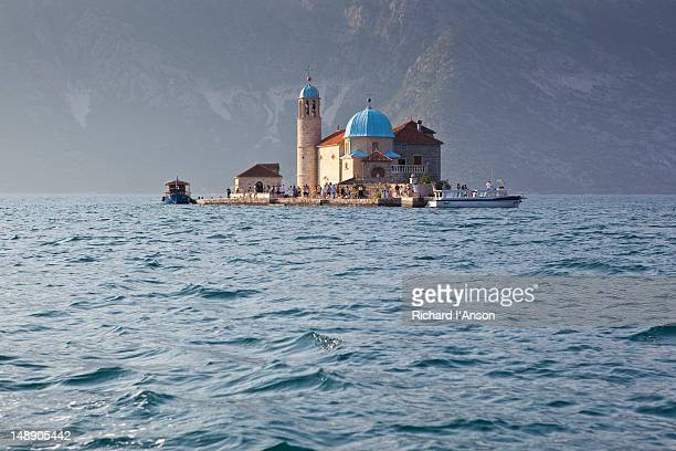 Church on Our-Lady-of-the-Rock Island in Bay of Kotor.