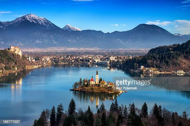 CONTENT] Church on the island on lake Bled