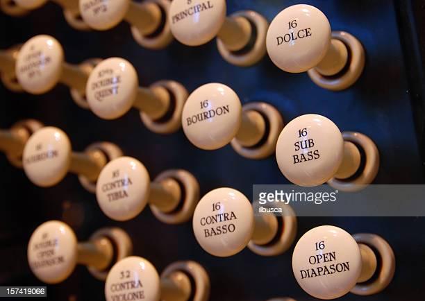 Church organ closeup