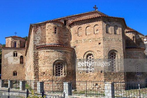 Church Saint Sophia, Ohrid lake, FYRM (Macedonia) : Foto de stock