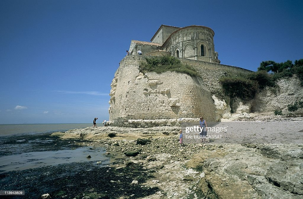 Church Sainte Radegonde Talmont On Gironde Charente Maritime In France