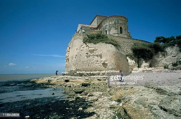 Church Sainte Radegonde Talmont On Gironde Charente Maritime In France