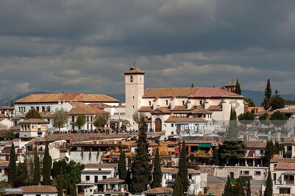 Church San Nicalas Albaicin, Granada : Stock Photo