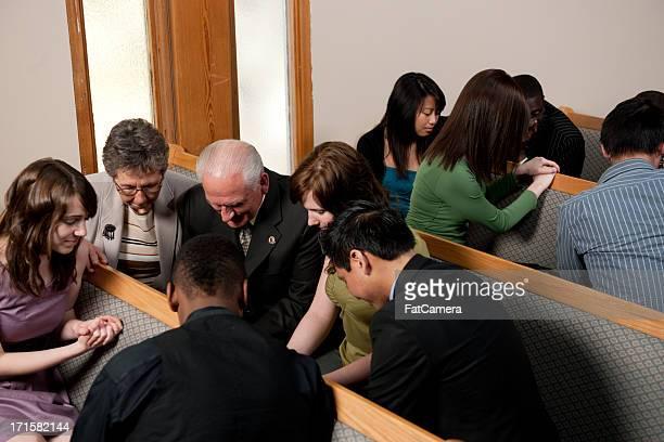 Church service group prayer