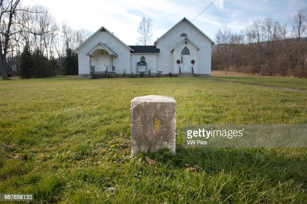 Church sits marked by timeline