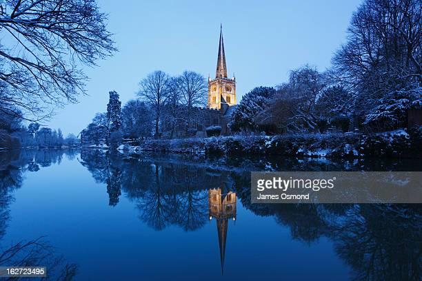 Church Spire on a Winter's Night