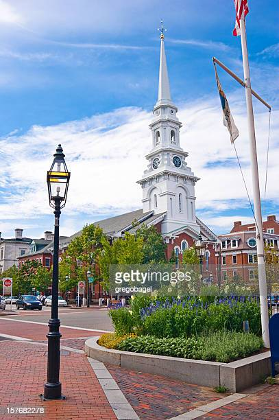 church steeple of downtown Portsmouth, New Hampshire
