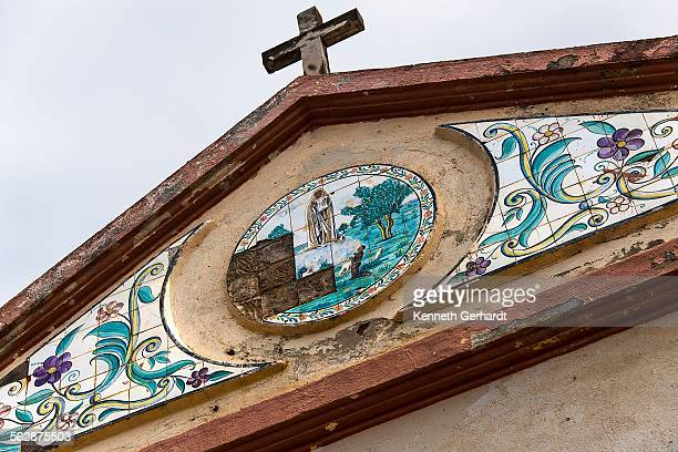 Church steeple with detailed mosaic, Angola, Luanda Bay