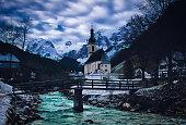 famous church in Ramsau
