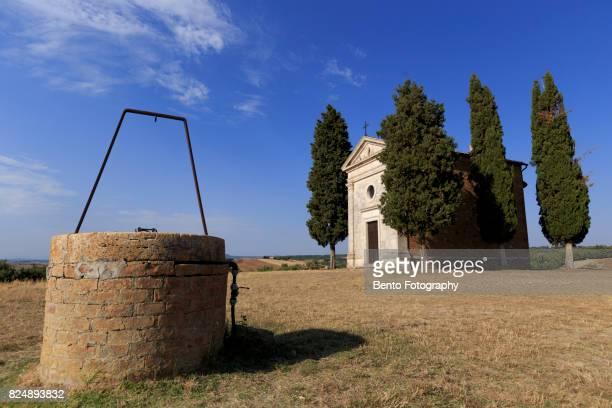 Church, Val dOrcia, Siena country, Tuscany, Italy