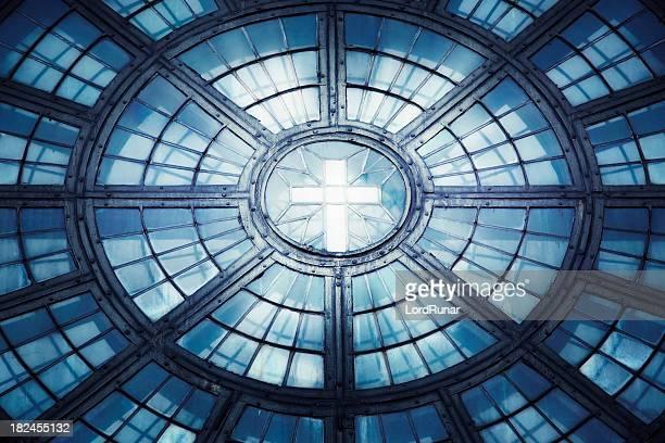 Kirche Fenster cross