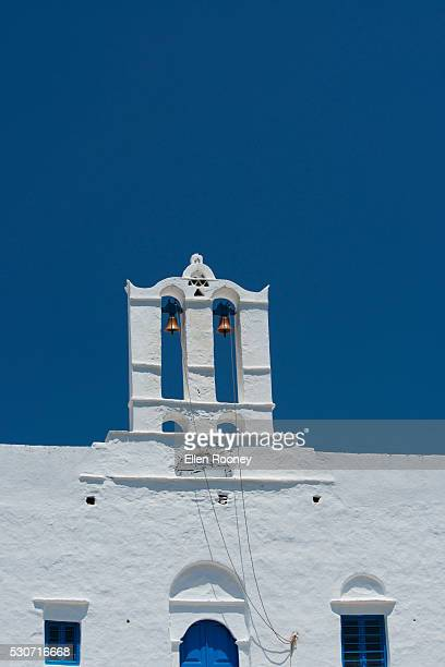 A church with bell tower; Pano Petali, Sifnos, Cyclades, Greek Islands, Greece
