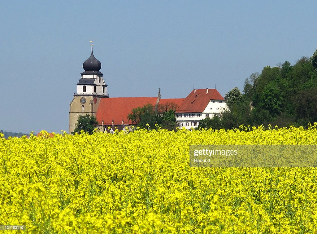 Herrenberg Germany  City pictures : Church With Conola Field Herrenberg Germany Stock Photo | Getty Images