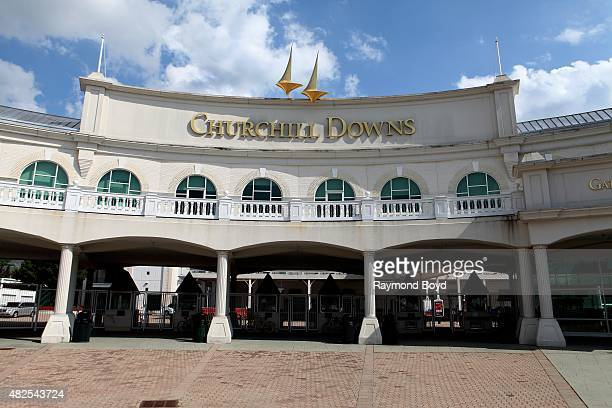 Churchill Downs home of The Kentucky Derby on July 19 2015 in Louisville Kentucky