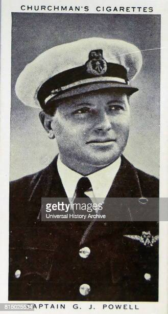Churchman Kings of Speed Series cigarette card depicting Captain G J Powell who took the Imperial Airways flyingboat Cambria across the North...