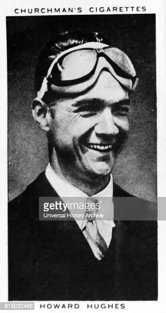 Churchman Kings of Speed Series cigarette card depicting Howard Robard Hughes Jr American entrepreneur who formed the Hughes Aircraft Company in 1932...