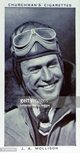 Churchman Kings of Speed Series cigarette card depicting James Allan Mollison was a Scottish pioneer aviator who set many records during the rapid...