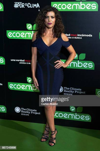 Chus Herranz attends 'An Inconvenient Sequel Truth to Power' premiere at the Callao cinema on October 3 2017 in Madrid Spain