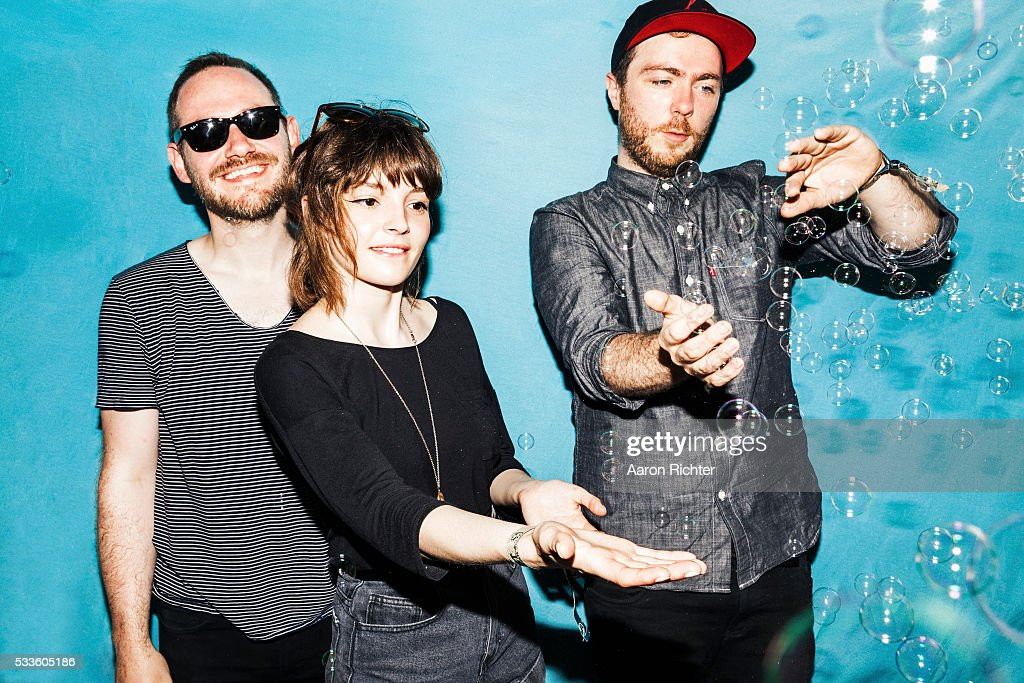Chvrches is photographed for Spin Magazine on June 22, 2013 at the Firefly Music Festival in Dover, Delaware. PUBLISHED