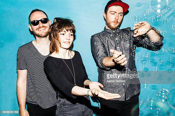 Chvrches is photographed for Spin Magazine on June 22 2013 at the Firefly Music Festival in Dover Delaware PUBLISHED IMAGE