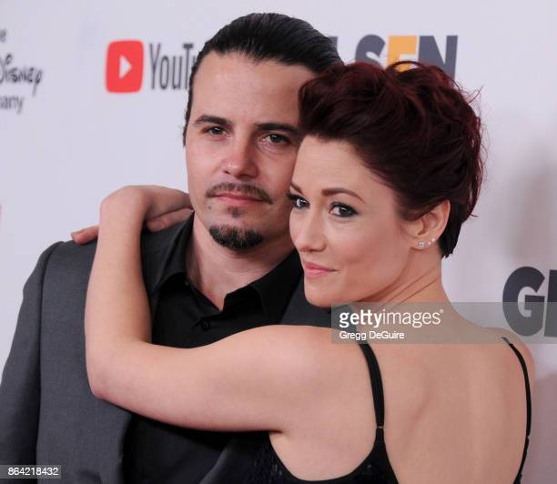 Chyler Leigh and Nathan West arrive at the 2017 GLSEN Respect Awards at the Beverly Wilshire Four Seasons Hotel on October 20 2017 in Beverly Hills...