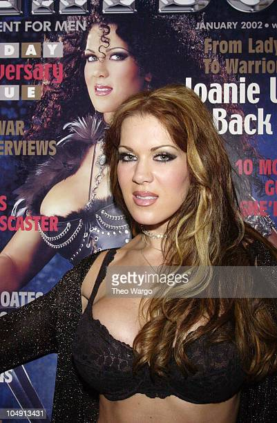 Chyna aka Joanie Laurer during Joanie Laurer aka Chyna promotes her cover of Playboy magazine at Virgin Megastore in New York City New York United...