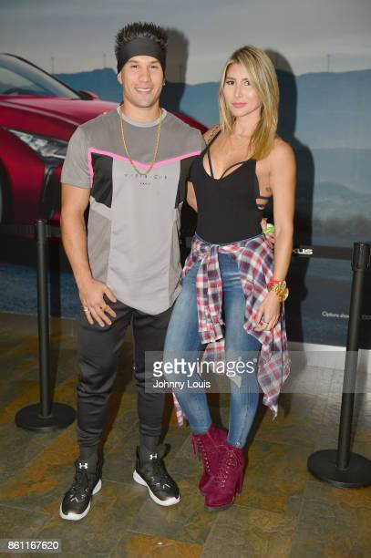 Chyno Miranda and wife Natasha Araos attend J Balvin Energia concert Tour at the AmericanAirlines Arena on October 13 2017 in Miami Florida