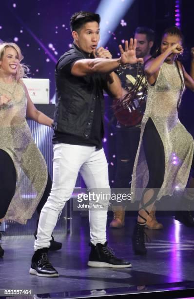 Chyno Miranda performs during TODOS UNIDOS Telemundo's Primetime Special from Cisneros Studio on September 24 2017 in Miami Florida