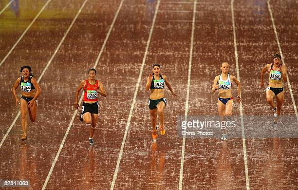 Chyshko Maryna of Ukraine Benhama Sanaa of Morocco Hayes Llse of South Africa Keita Nantenin of France and MullerRottgardt Katrin of Germany compete...