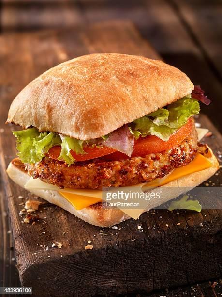 Ciabatta Cheeseburger with Mixed Greens
