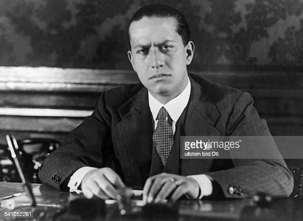 Ciano Galeazzo Graf *Politiker I als Unterstaatssekretär für Presse undPropaganda veröffentlicht Oktober 1935