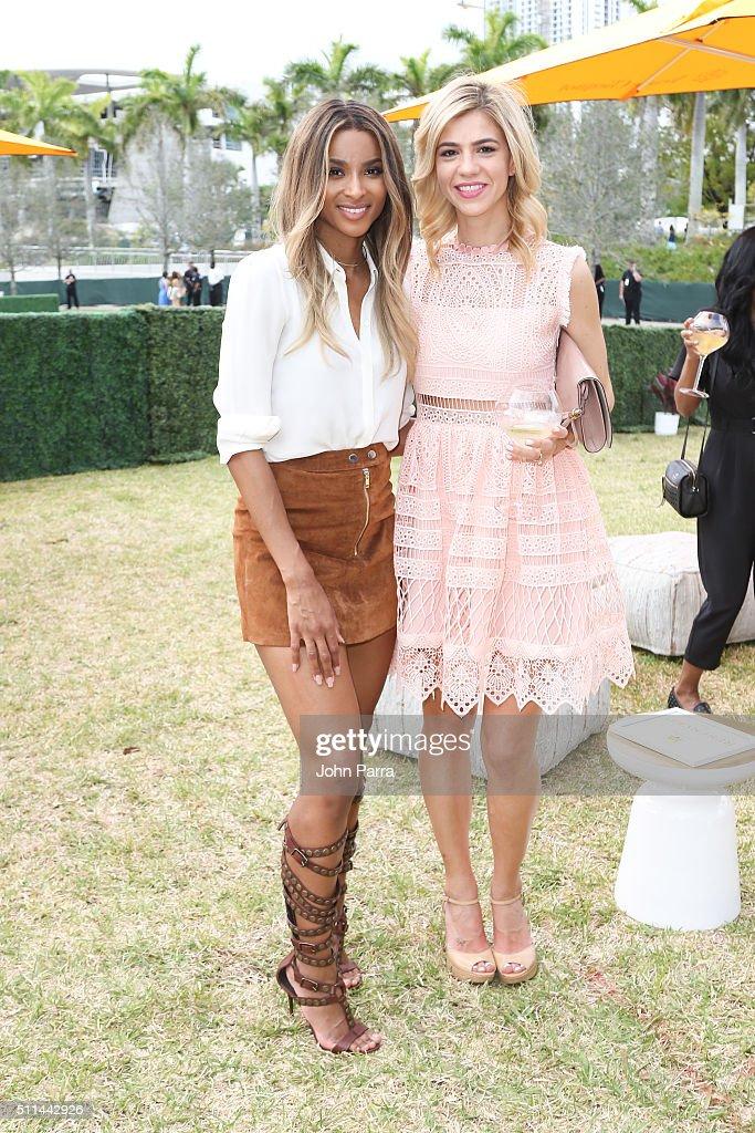Ciara and Amanda Tur attends the SecondAnnual Clicquot Carnaval in Miami at Museum Park on February 20 2016 in Miami Florida