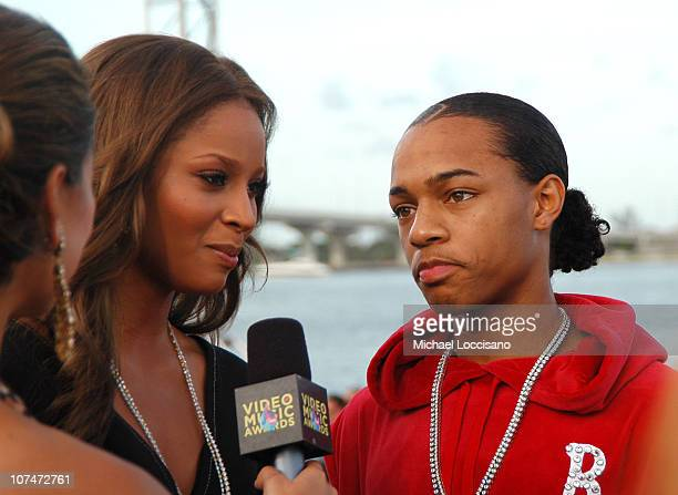 Ciara and Bow Wow at MTV ShowBox during 2005 MTV Video Music Awards MTV ShowBox at American Airlines Arena in Miami Florida United States