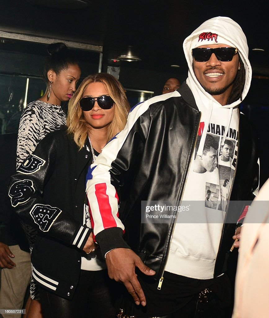 Ciara and Future attend the birthday celebration for Big Boi of Outkast at Club Reign on February 2, 2013 in Atlanta, Georgia.