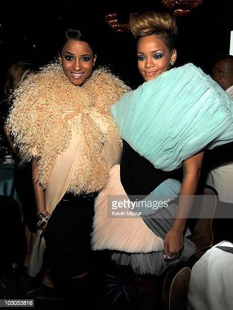 Ciara and Rihanna at the 52nd Annual GRAMMY Awards Salute To Icons Honoring Doug Morris held at The Beverly Hilton Hotel on January 30 2010 in...