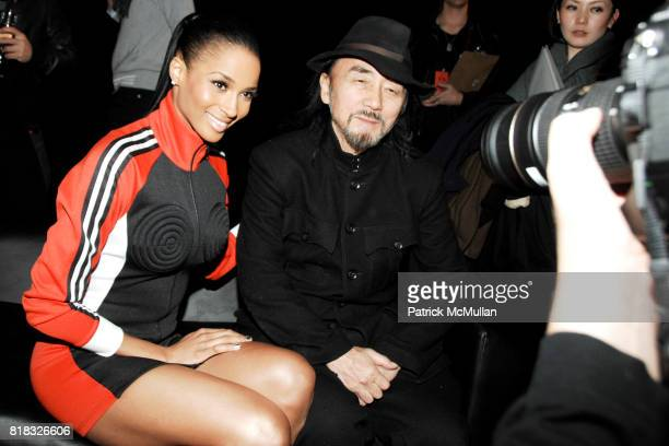 Ciara and Yohji Yamamoto attend ADIDAS Y3 Fall/Winter 2010 Collection at Park Avenue Armory on February 14 2010 in New York City