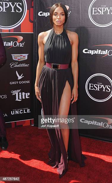 Ciara arrives at The 2015 ESPYS at Microsoft Theater on July 15 2015 in Los Angeles California