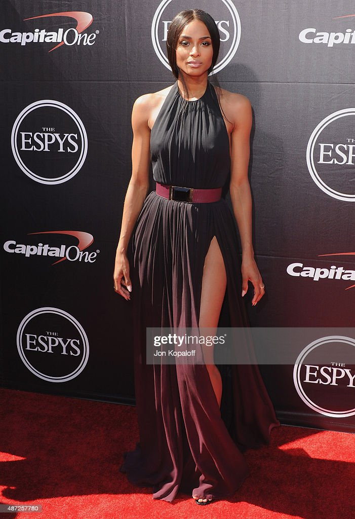 Ciara arrives at The 2015 ESPYS at Microsoft Theater on July 15, 2015 in Los Angeles, California.