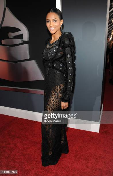 Ciara arrives at the 52nd Annual GRAMMY Awards held at Staples Center on January 31 2010 in Los Angeles California