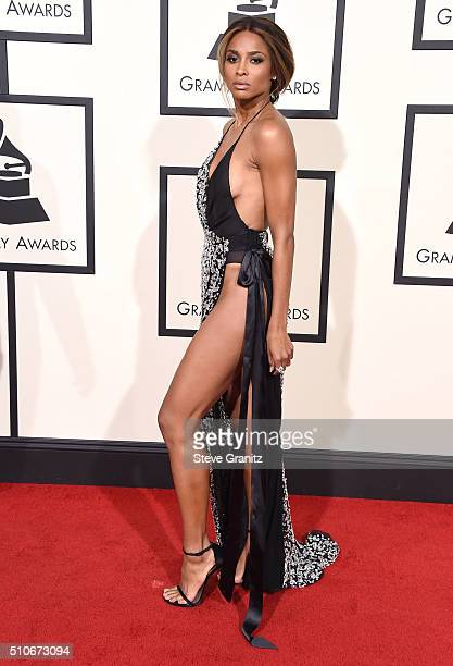 Ciara arrives at the The 58th GRAMMY Awards at Staples Center on February 15 2016 in Los Angeles City