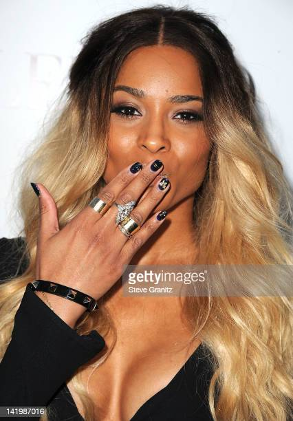 Ciara arrives at the Valentino 50th Anniversary And New Flagship Store Opening On Rodeo Drive at Valentino Boutique on March 27 2012 in Beverly Hills...